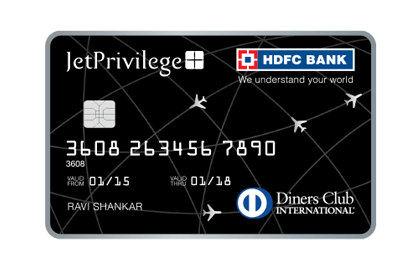 JET PRIVILEGE HDFC BANK DINERS CLUB CREDIT CARD