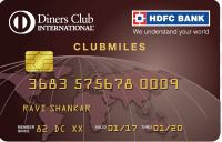 HDFC BANK DINERS CLUB MILES CREDIT CARD