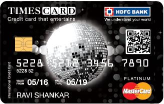 HDFC BANK PLATINUM TIMES CREDIT CARD