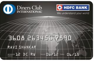 HDFC BANK DINERS CLUB BLACK CREDIT CARD
